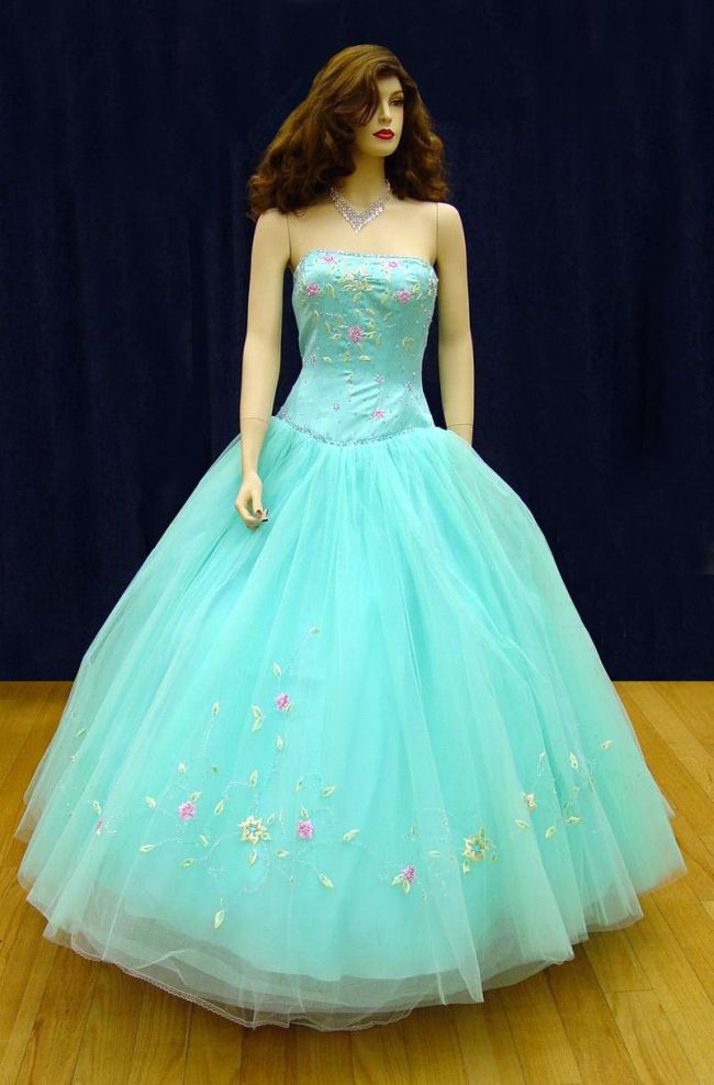 Prom gowns p0103 turquoise